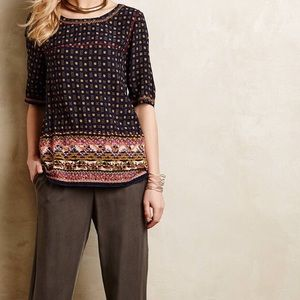 Holding Horses Embroidered Minas Top!